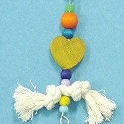 Bird Brainers Toy w/ Rope & Plastic Beads 7in