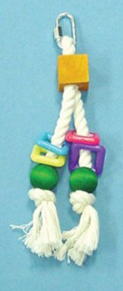 Bird Brainers Toy w/ Rope & Beads 8in