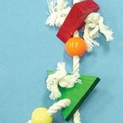 Bird Brainers Triangle Blocks & Rope Toy 12in