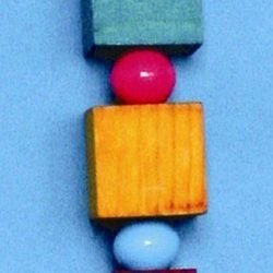 Bird Brainers Wooden Blocks and Beads Toy 12in
