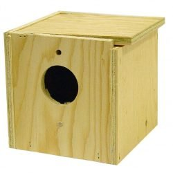 Bird Brainers Finch Nesting Box Inside/Out Mounting