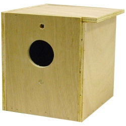 Bird Brainers Parakeet Nesting Box Inside/Outside Mounting