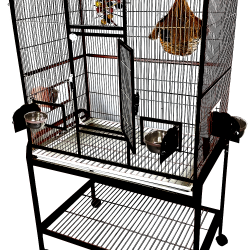 MA3824FL Black - 38''x24''x67'' Elegant Flight Cage