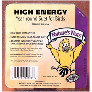 Chuckanut Natures Nuts High Energy Suet 9lb