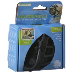 """Baskerville Ultra Muzzle for Dogs (Size 2 - Dogs 12-25 lbs - (Nose Circumference 10.5""""))"""