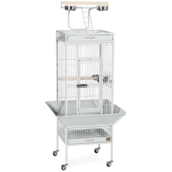 Prevue Pet Products Wrought Iron Select Cage Pewter 18x18x57in
