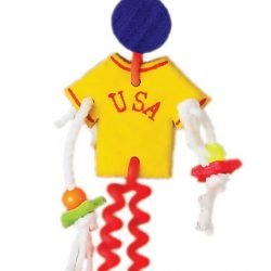 Prevue Pet Products Cosmic Crunch USA Man Bird Toy