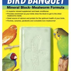 Zoo Med Bird Banquet Mineral Block - Mealworm Formula - Large