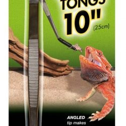 Zoo Med Angled Stainless Steel Feeding Tongs (10in)