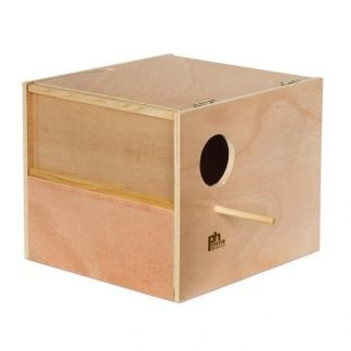 Prevue Pet Products Hardwood Outside Cockatiel Nest Box Large