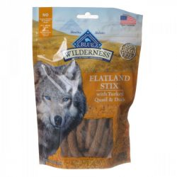 Blue Buffalo Wilderness Flatland Stix Dog Treats - Turkey, Quail & Duck (6 oz)
