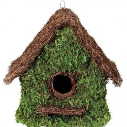 Galapagos Maison Woven Birdhouse (Fresh Green 11 x 12in)