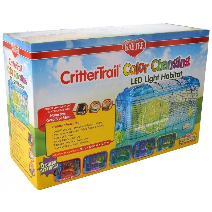 kaytee crittertrail color changing led light habitat 1 count