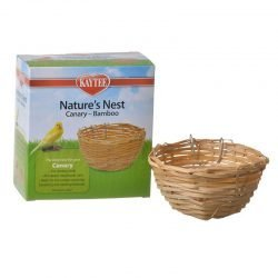 """Kaytee Nature's Nest Bamboo Nest - Canary  (1 Pack - (4""""W x 2""""H))"""