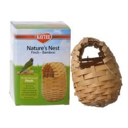 "Kaytee Nature's Nest Bamboo Nest - Finch  (Regular - (3.75""L x 3.75""W x 4.5""H))"