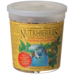 Lafeber Classic Nutri-Berries Parakeet Food  (12.5 oz Tub)