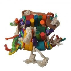 "Penn Plax Bird Life Leather-Kabob Parrot Toy  (16.5"" Long - (Large Parrots))"