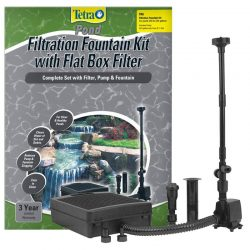 Tetra Pond Filtration Fountain Kit with Submersible Flat Box Filter  (FK5 - 325 GPH - For Ponds up to 250 Gallons)