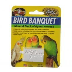 Zoo Med Bird Banquet Mineral Block - Original Seed Formula  (Small - 1 Block - 1 oz)