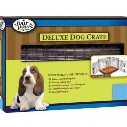 """Four Paws Double Door Deluxe Crate- Divider Panel Included (36""""x22""""x25"""")"""