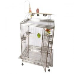 "Playtop Cage in Stainless Steel (48""x36""x76"")"