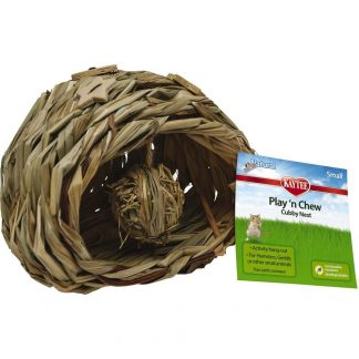 Kaytee Natural Play'n Chew Cubby Nest (Small)