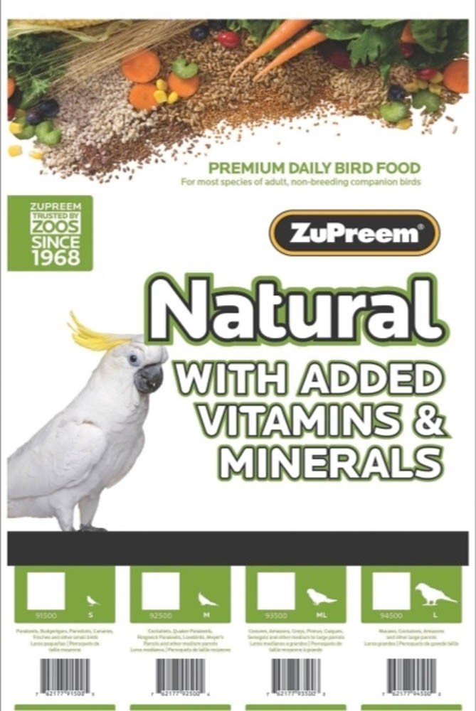 ZuPreem Natural for Small Birds (2.25lb)