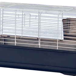 Rabbit/Guinea Pig Cage - Blue Base with White Wire (24x13x13)
