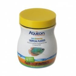 Aqueon Color Enhancing Tropical Flakes Fish Food (2.29 oz)