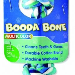 Booda 2-Knot Rope Bone Multi-Color Extra Small