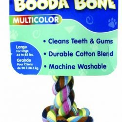Booda 2-Knot Rope Bone Multi-Color Large