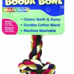 Booda 2-Knot Rope Bone Multi-Color Medium