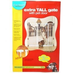 "Carlson Pet Gates Maxi Walk Thru Gate with Pet Door (Regular - 34.5""-38""W x 31""H - (50""-59"" Wide with Extension))"