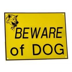 Doggie Dooley Beware of Dog Sign