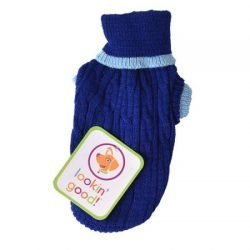 Fashion Pet Cable Knit Dog Sweater - Blue