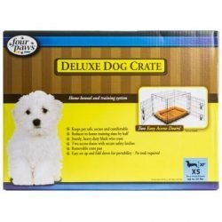 """Four Paws Double Door Deluxe Crate- Divider Panel Included (24""""x18""""x20"""")"""