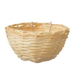 "Living World Wicker Canary Nest  (4"" Long x 2"" Wide)"