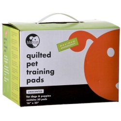 """Lola Bean Quilted Pet Training Pads  (20"""" Long x 16"""" Wide (50 Pack))"""