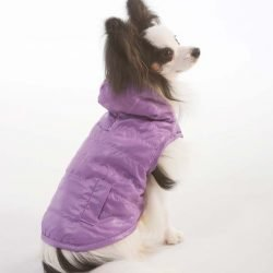 Lookin Good Reversible Puffy Dog Coat - Lilac
