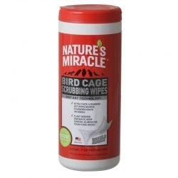 "Nature's Miracle Bird Cage Scrubbing Wipes  (30 Count - (7"" x 8"" Wipes))"