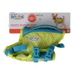 """Outward Hound Standley Sport Life Jacket for Dogs - Green/Blue  (X-Small - 5-15 lbs - (11""""-15"""" Girth))"""