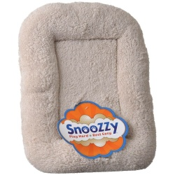 """Precision Pet SnooZZy Bumper Bed - Natural Long Terry (X-Small 2000 (23"""" Long x 17"""" Wide))"""