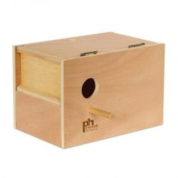 Prevue Pet Products Hardwood Outside Parakeet Nest Box Medium