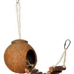 Prevue Pet Products Naturals Coco Hideaway with Ladder Bird Toy