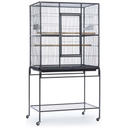 Prevue Wrought Iron Flight Cage With Stand (Black | 31in x 20.5in x 59in)