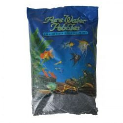 Pure Water Pebbles Premium Fresh Water Substrates Jet Black 5lb
