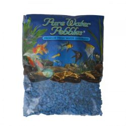 Pure Water Pebbles Premium Fresh Water Substrates Neon Blue 25lb