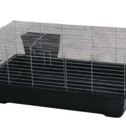 Rabbit/Guinea Pig Cage - Black Base with Black Wire (24x13x13)