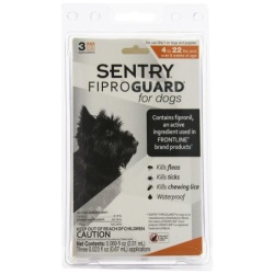 Sentry FiproGuard for Dogs  (Dogs 89-132 lbs (3 Doses))