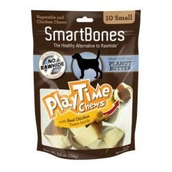 "SmartBones PlayTime Chews for Dogs - Peanut Butter  (Medium - 5 Pack - (2"" Diameter Chews))"